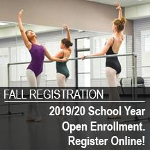 Register your dancer for fall classes!